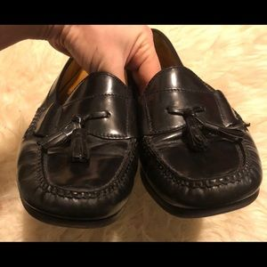 Cole Haan Black Leather Pinch Tassel Loafer